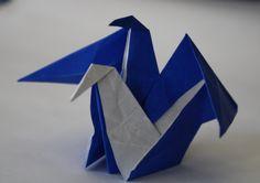 Two Headed Crane Designed By: Qusai Al-Saify Origami Shapes, Crane Design