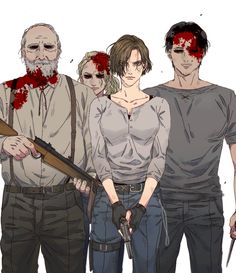 The walking dead Walking Dead Funny, Walking Dead Zombies, Carl The Walking Dead, Walking Dead Fan Art, Walking Dead Wallpaper, Walking Dead Show, The Walking Dead Telltale, Walking Dead Series, Glenn Y Maggie