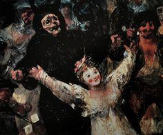 """brazenswing: """"    Francisco de Goya y Lucientes El entierro de la sardina (detail) 1812-1819 """""""