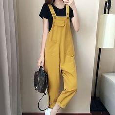 litesense - Set: Jumper Pants + Short-Sleeve T-Shirt Hijab Fashion, Korean Fashion, Girl Fashion, Fashion Dresses, Womens Fashion, Fashion Design, Korean Outfits, Trendy Outfits, Cute Outfits