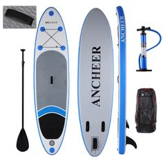 ceb1341d0d0 Détails sur SUP Board Stand Up Paddle board planche de surf gonflable 10ft  avec pagaie pompe
