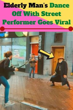 """An elderly man was walking through a shopping area in the Netherlands when a street performer caught his attention. He liked his music so much that he decided to boogie along with him. For several minutes, both of the gentlemen jammed out together while strangers strolled by. Their little """"dance-off"""" was so awesome that it ended up going viral!"""