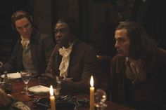 Murray Close © 2006 Bristol Bay Productions LLC Benedict Cumberbatch as William Pitt, Youssou N'Dour as Olaudah Equiano and Rufus Sewell as Thomas Clarkson in Michael Apted's Amazing Grace, a Samuel Goldwyn/Roadside Attractions film.