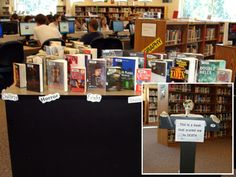 """""""Yorick"""" lends his presence to library programming activities (Photos/idea submitted by Stevens High School, Rapid City, SD)"""