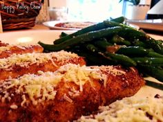 Norma's Chicken Tenders w/ Sautéed Garlic-Parmesan Green Beans — Happy Valley Chow