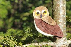 The tiny elf owl felt ornament pattern.