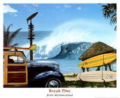 Break Time.   Click to buy this Beach Art Print!