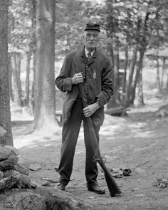 This came from Eastern upstate New York so from the 484 on his Kepi it's my best guess he was a member of the Carlisle D. Beaumont GAR Post 484 in Keeseville, New York.  If anyone knows anything about that Post or the type of musket he's holding could you let us know? Scanned from the original 4x5 inch glass negative.