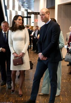 On the second day of their high-profile visit to Sweden, William and Kate, who is six months pregnant, met with a team of experts to discuss the country's approach to mental health.