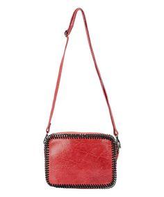 04b5fe6ed424 Bordo Chain Leather Crossbody Bag  zulily  zulilyfinds Leather Chain