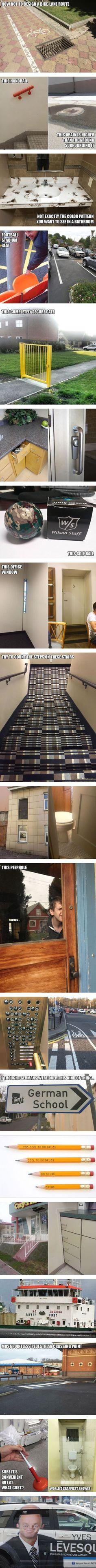 Brilliant Examples of Terrible Design