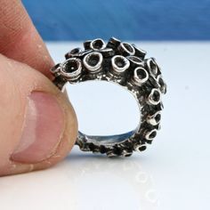 Beautiful double octopus ring sterling silver tentacle rings open shank design by Zulasurfing Mothers Day Gift