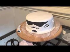 Storm trooper cake for Nyles' 16th birthday - YouTube