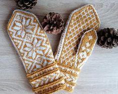 Hand Knit Gray White Wool Mittens Hand Knit Gray White Wool   Etsy Mittens Pattern, Knit Mittens, Knitting Socks, Hand Knitting, Wool Gloves, Crochet Gloves, Handgestrickte Pullover, Hand Knitted Sweaters, Christmas Knitting