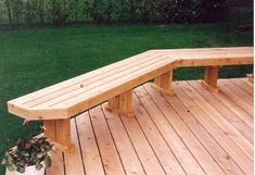 Deck Plans 79164905935936791 - Build Built in Deck Benches That Look Great! How benches Source by Curved Pergola, Pergola Attached To House, Deck With Pergola, Pergola Plans, Pergola Ideas, Pergola Kits, Metal Pergola, Patio Ideas, Deck Plans
