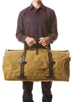 waxed canvas duffel