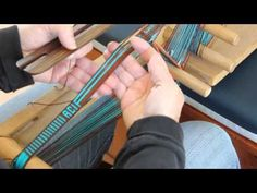 Weaving Letters on an Inkle Band - YouTube