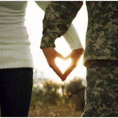 Military love -- must to this pose for our pics