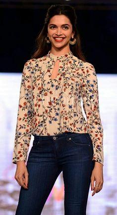 "Deepika Padukone showcasing her fashion line ""all about you"""