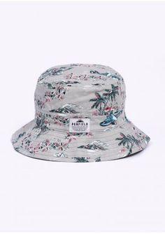 e82067b329b Penfield Baker Sun Bucket Hat - Grey Tropical Bucket Hat