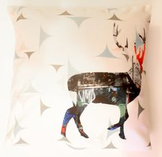 Items similar to Reindeer Decorative Throw Pillow Cover Graffiti and White Fine Art Photography Cushion. Two-Sided Case on Etsy Throw Pillow Covers, Fine Art Photography, Decorative Throw Pillows, Reindeer, Gift Guide, Ireland, Graffiti, Cushions, Comfy