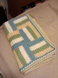 Crochet Afghans Ideas Sonoma Baby Blanket By Treva McCain - Free Crochet Pattern - (ravelry) - Crochet Afghans, Crochet Quilt, Crochet Squares, Crochet Yarn, Crochet Stitches, Baby Afghans, Crotchet, Ravelry Crochet, Free Baby Blanket Patterns