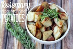 Dress up your potato side dish without a lot of extra work! These rosemary roasted red potatoes are delicious AND easy!