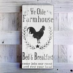 3 sizes available 12 x 24, 15 x 30, 18 x 36 12 x 24 shown SHABBY CHIC HANDMADE FARMHOUSE SIGN Each piece is made to order and handmade by husband and wife team Ali and Randy Schaffner. Our signs are hand crafted from USA made A1 Grade 7 Ply maple plywood, which has a beautiful