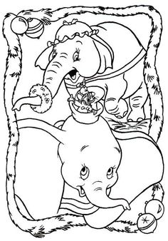 DISNEY COLORING PAGES: DUMBO COLORING SHEET