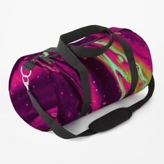 """""""Abstract Trippy Psychedelic Paint Pattern"""" Duffle Bag by ind3finite   Redbubble Duffle Bags, Painting Patterns, Top Artists, Shoulder Pads, Trippy, Psychedelic, Modern Art, Gym Bag, Artsy"""