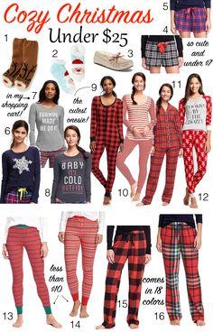 Christmas pajamas under $25
