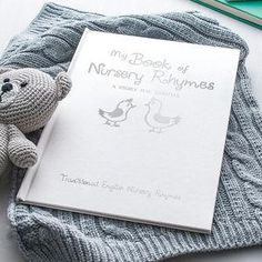 Silver Embossed Personalised Book Of Nursery Rhymes - Give a Christening gift that shows they are truly cherished. Thoughtful and original, lots of the products can be personalised as they are created by talented independent designers or small creative businesses.