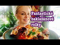 Fantastické baklažánové rolky - YouTube Snack Recipes, Snacks, Chips, Food And Drink, Beef, Youtube, Snack Mix Recipes, Meat, Appetizer Recipes