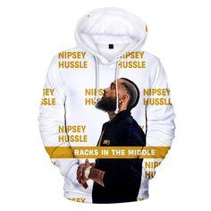 Nipsey Hussle Hoodie Sweatshirt Print Rapper Hip Hop 2019 New Arrival Fashion Harajuku Streetwear Sweatshirt Hoodies Hot Sale Rapper Hoodies, Wholesale Hoodies, Hip Hop Outfits, Hoodie Sweatshirts, Fashion Sweatshirts, Pullover, Spring, Men Sweater, Tops