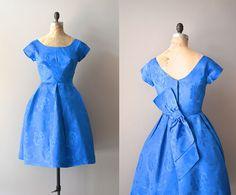 1950s dress / 60s party dress / Flamme Bleue by DearGolden on Etsy, $168.00