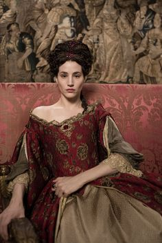 "The Queen in the series ""Versailles"" Mode Rococo, Mode Baroque, Versailles Tv Series, 17th Century Fashion, Rococo Fashion, Medieval Fashion, Movie Costumes, Now And Forever, Versailles"