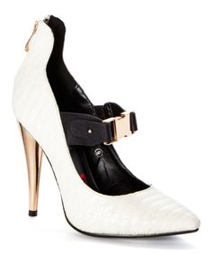 Another great find on #zulily! White Love Bites Pump by Red Kiss #zulilyfinds