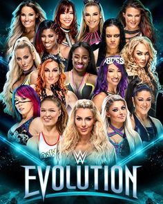 Check Out the Poster for WWE Evolution Wrestling Superstars, Wrestling Divas, Women's Wrestling, The Bella Twins, Le Catch, Wwe Birthday, Wrestling Birthday, Wwe Ppv, Wwe Raw And Smackdown