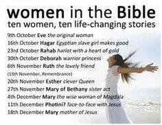 women of the bible - a great idea for WM bible study