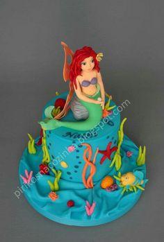 Disney Little Mermaid Ariel Cake #disney #princess