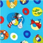 The Cat In The Hat Book Cover Turquoise - Discount Designer Fabric - Fabric.com