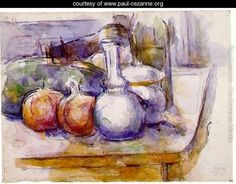 Still Life With Carafe  Sugar Bowl  Bottle  Pommegranates And Watermelon - Paul Cezanne - www.paul-cezanne.org