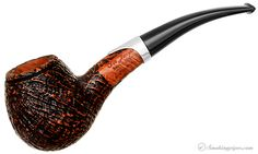 Ser Jacopo Picta Van Gogh Sandblasted Hawkbill with Silver (S2) (09) Pipes at Smoking Pipes .com