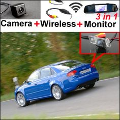 72.01$  Watch now - http://alivhm.shopchina.info/1/go.php?t=32799617475 - 3in1 Special WiFi Camera + Wireless Receiver + Mirror Monitor Easy DIY Parking System For Audi A4 / S4 / RS4 2001~2008  #SHOPPING