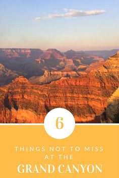 Top things to see and do at the Grand Canyon in Arizona, US