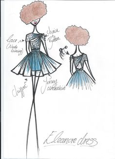 Bespoke dress idea.