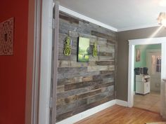 Reclaimed barnwood wall from Tennessee Wood Flooring in Sevierville, TN. :)
