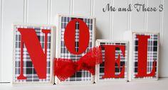 NOEL Wood blocks Christmas Decor on Etsy, $28.00