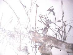9x13in Silver Surreal Elegant OOAK Watercolor Aquarelle Original Unique Contemporary Fine Art Abstract Wash Drawing Modern Minimal Zen