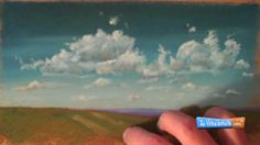 How to Draw Clouds with Chalk Pastels - demonstration